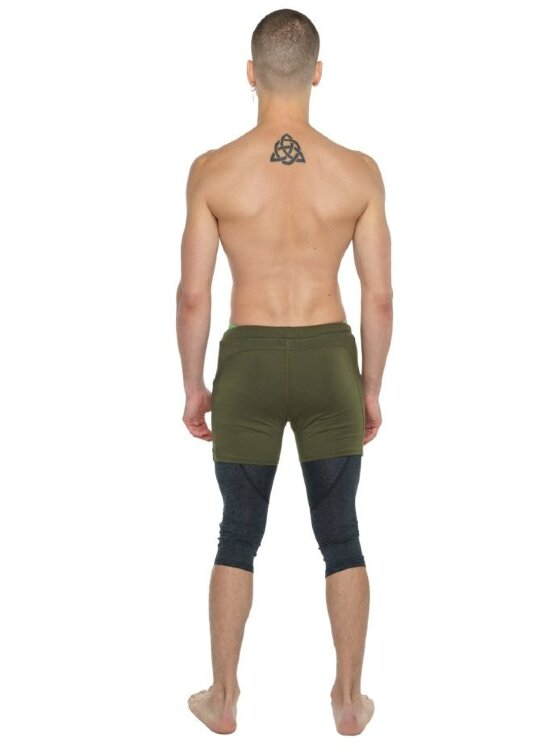 Men's Performance Yoga Tights - 3/4 (Charcoal Heather)