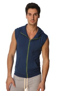 Sleeveless Yoga Hoody (Royal Blue)
