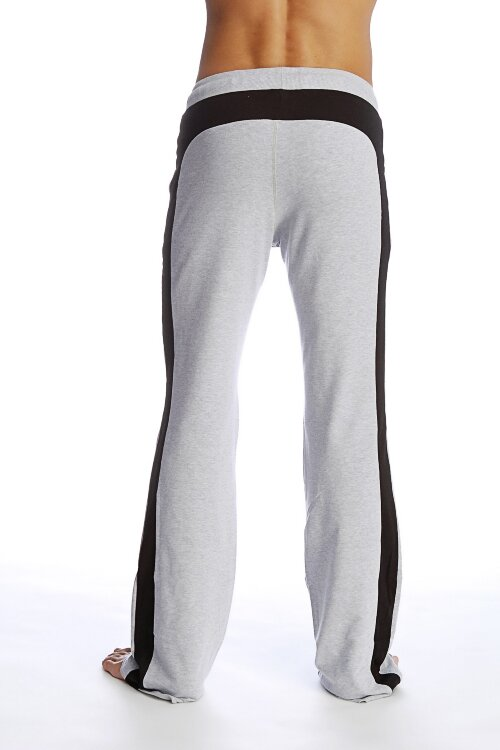 Yoga Pants for men  (Heather Grey- Black).jpg