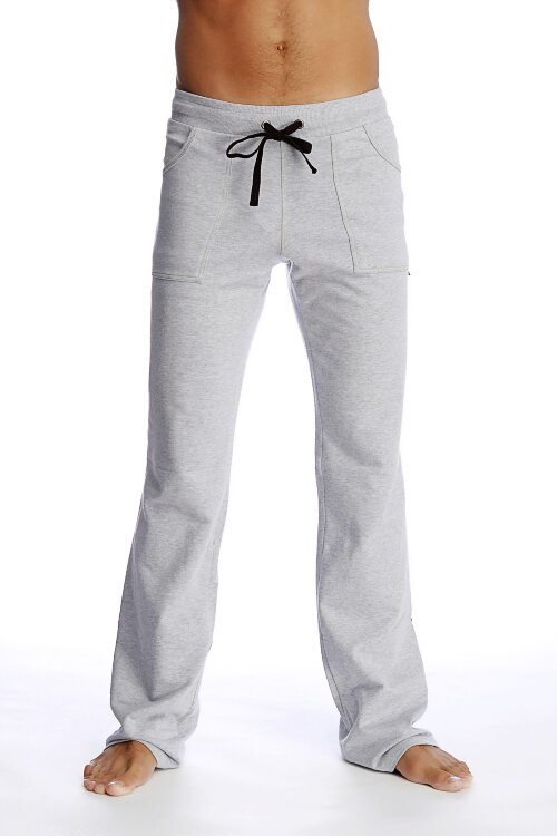 Men's Track Pant for Yoga  (Heather Grey- Black).jpg