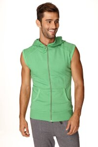 Sleeveless Yoga Hoody (Bamboo Green)