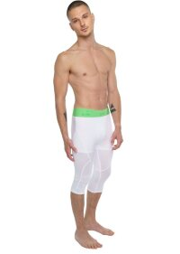 Men's Performance Yoga Tights 3/4 Length (Arctic White)