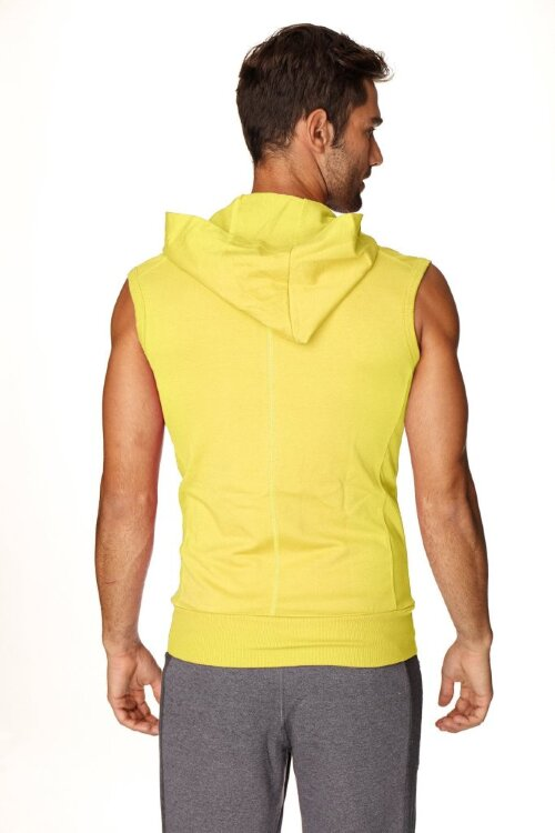 Sleeveless Yoga Hoody for men (Tropic Yellow) - back view