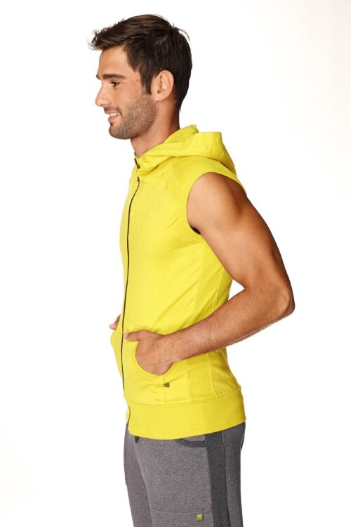Sleeveless Yoga Hoody for men (Tropic Yellow) - side view
