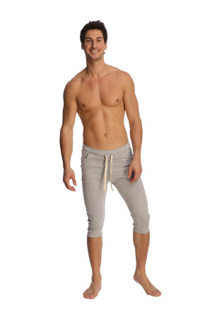 Eco-friendly Cuffed Yoga Pants for men (Solid Heather Grey)