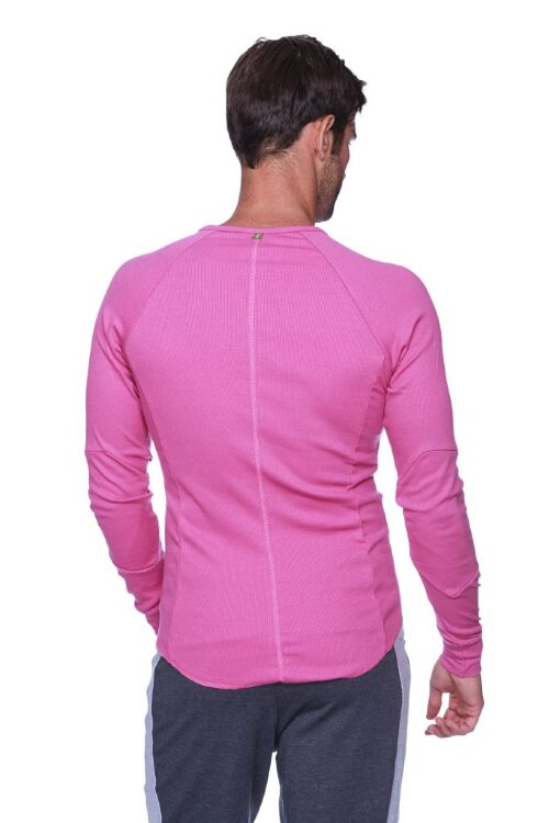 Thermal V-neck Long Sleeve (Berry) - back view