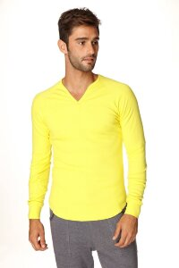 Thermal V-neck Long Sleeve (Tropic Yellow)