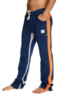 Ultra Flex Yoga Track Pant (Royal Blue w/Orange & Grey)