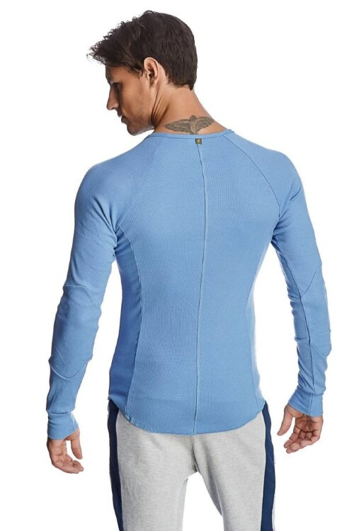 Thermal V-neck Long Sleeve (Ice Blue) - back view