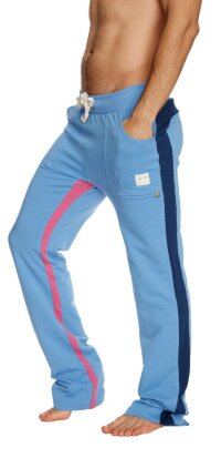 Ultra Flex Yoga Track Pant (ICE blue w/Royal & Berry)