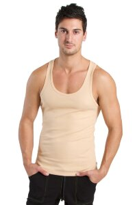 Sustain Tank Top for Yoga (Sand Beige)