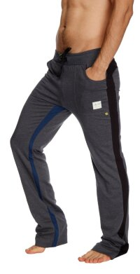 Ultra Flex Yoga Track Pant (CHARCOAL w/Black & Royal)