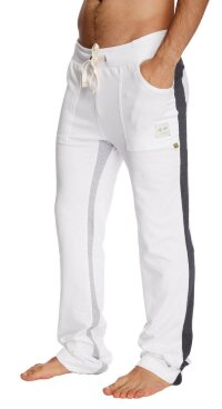 Ultra Flex Yoga Track Pant (WHITE w/Charcoal & Grey)