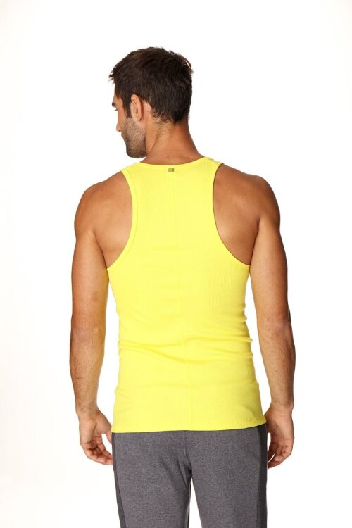Sustain Tank Top for Yoga (Tropic Yellow) - back view