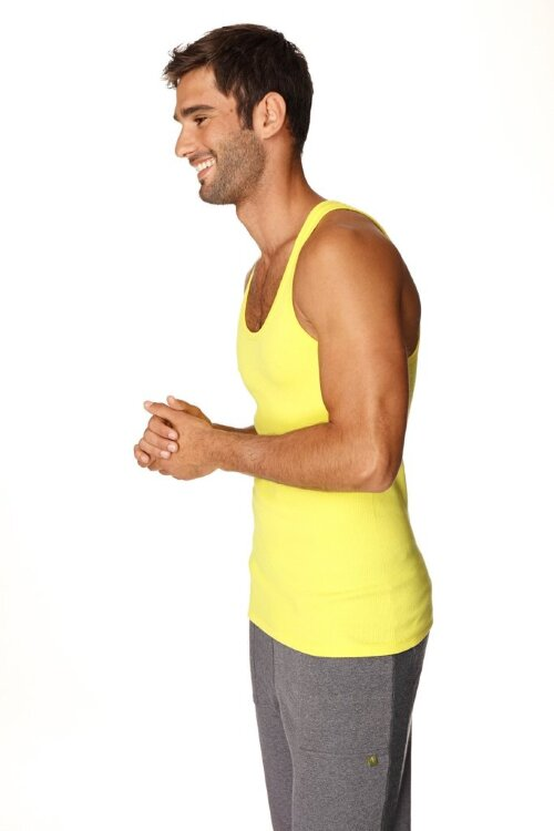 Sustain Tank Top for Yoga (Tropic Yellow) - side view