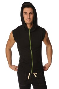 Sleeveless Yoga Hoody (Black)
