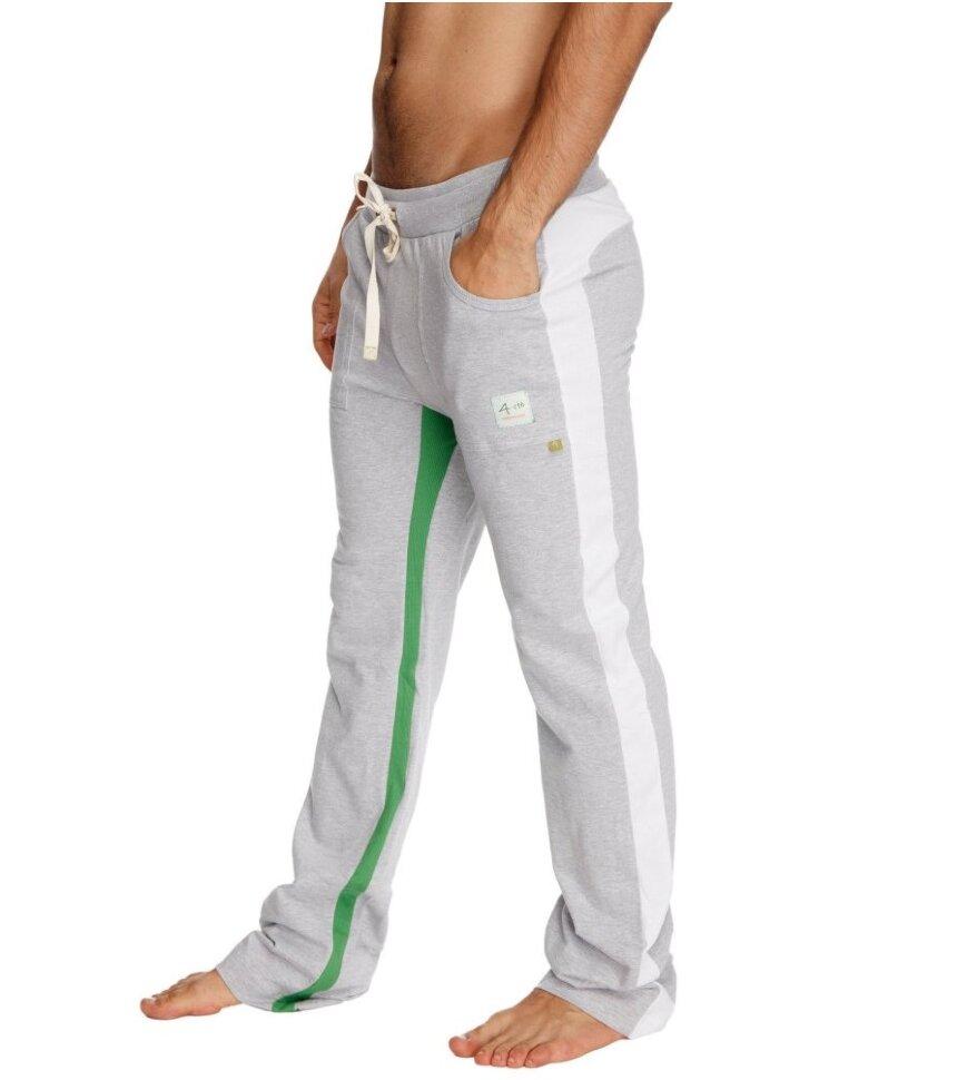 Green w//White /& Sand Ultra-Flex Tri-color Cuffed Yoga Pant