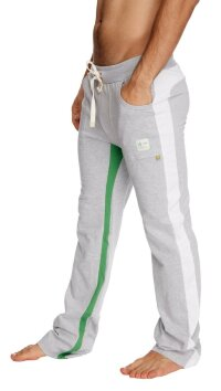 Ultra Flex Yoga Track Pant (GREY w/White & Green)
