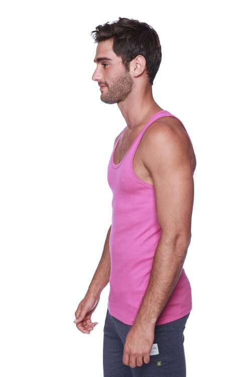 Sustain Tank Top for Yoga (Berry) - side view