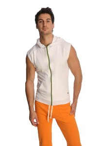 Sleeveless Yoga Hoody (White)