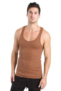 Racer-back Yoga Tank (Chocolate)
