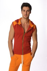 Sleeveless Yoga Hoody (Cinnabar)
