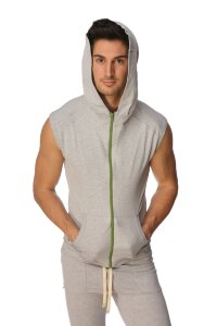 Sleeveless Yoga Hoody (Heather Grey)