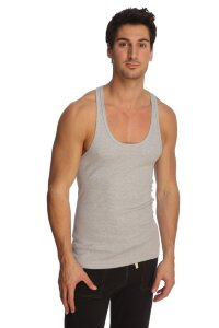 Racer-back Yoga Tank (Heather Grey)