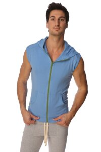Sleeveless Yoga Hoody (Ice Blue)