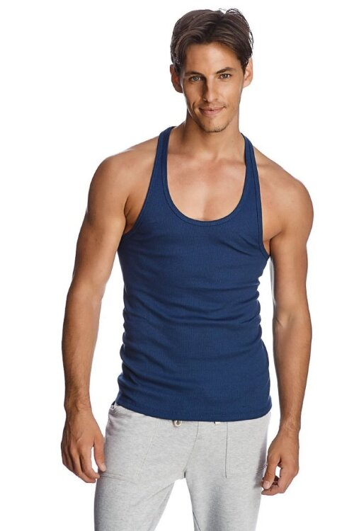 Racer-back Yoga Tank (Royal Blue) - front view