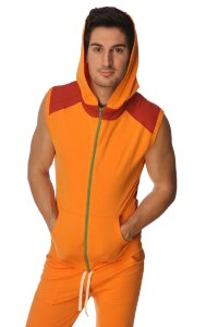 Sleeveless Yoga Hoody (Sun Orange)