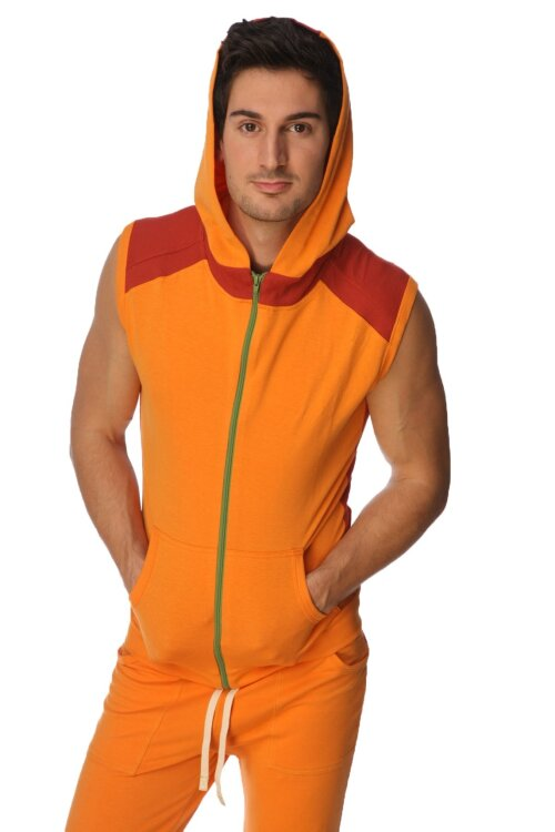 Organic Sleeveless Yoga Hoody for men (Sun Orange)_0.1.jpg
