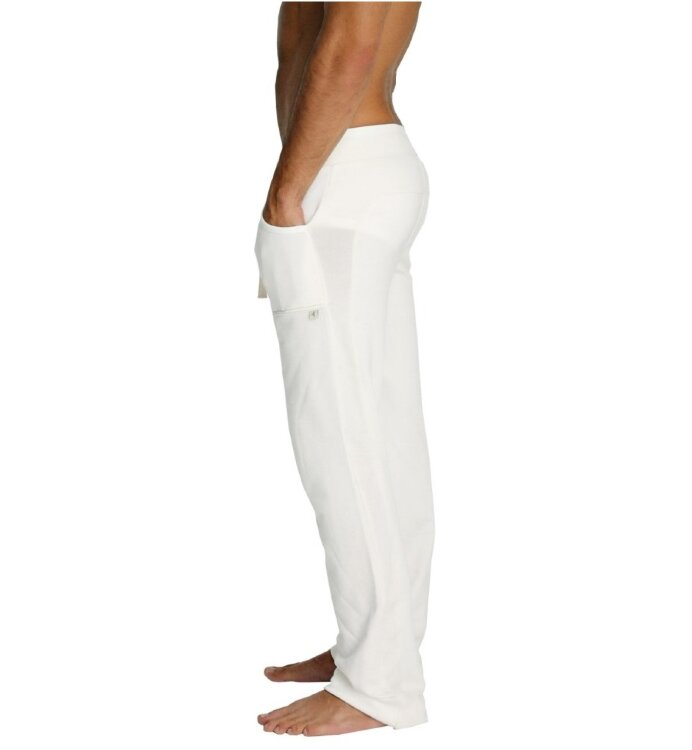 Men's Eco-Track Yoga Pants (White) - 100% Made in USA