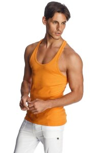 Racer-back Yoga Tank (Sun Orange)