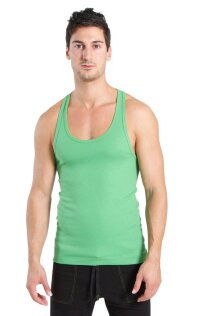 Racer-back Yoga Tank (Bamboo Green)