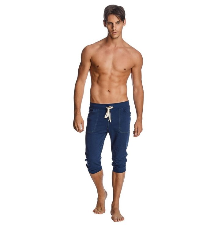 Men's Transition Cuffed Yoga Pants (Solid Royal Blue)