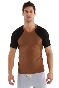 Raglan Virtual Crew Neck (Chocolate w/Black)