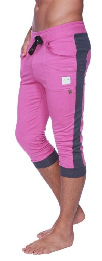 Cuffed Yoga Pants for men (Berry w/Charcoal)