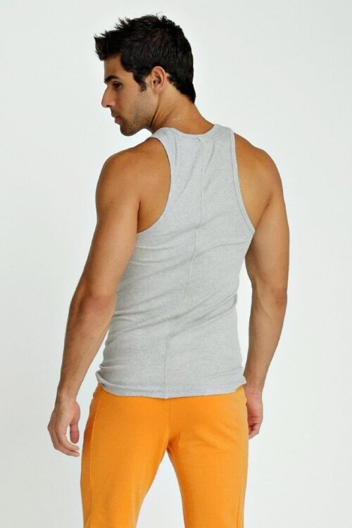 Sustain Tank Top for Yoga (Heather Grey) - back view