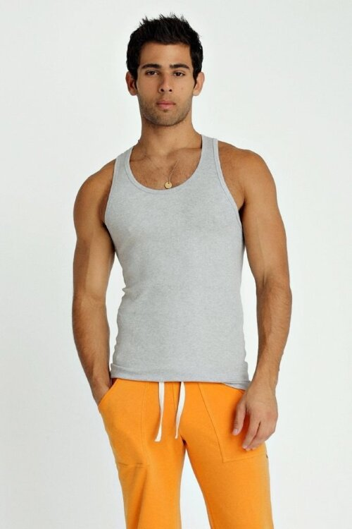 Sustain Tank Top for Yoga (Heather Grey) - front view