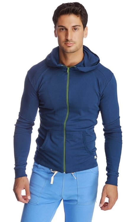 Organic Yoga Hoodie for men (Royal)