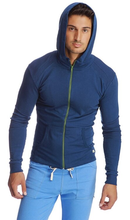 Men's Zip Hoody for Yoga (Royal)