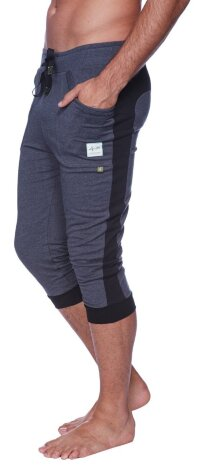 Cuffed Yoga Pants for men (Charcoal w/Black)