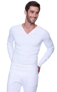 Thermal V-neck Long Sleeve (White)